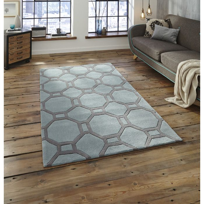 Hong Kong HK 4338 Blue Grey Rugs Are Hand Tufted In China Exclusively By Think Using A Soft Acrylic Yarn With Dense Thick Pile Each Design Is