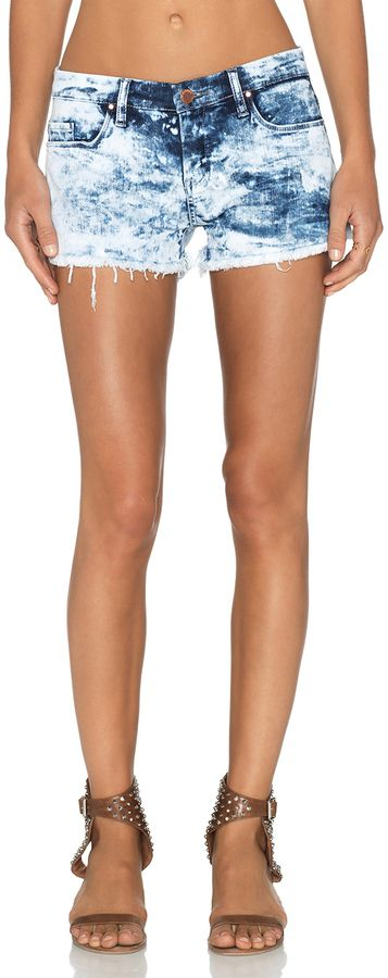 $78, Blank NYC Blanknyc Acid Wash Cut Off Short. Sold by Revolve Clothing. Click for more info: https://lookastic.com/women/shop_items/269899/redirect