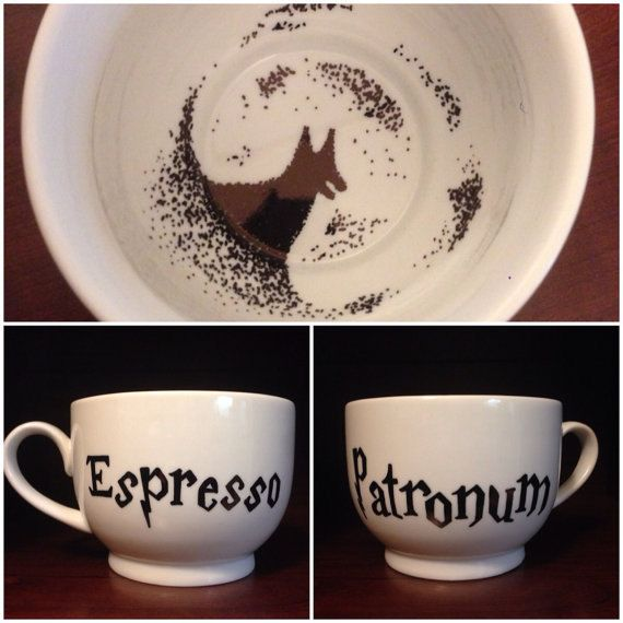 Harry Potter mugs :) I want them! :) Except the Grim was made from tea leaves so it wouldn't be Espresso. But they made a pun so I forgive them! :D