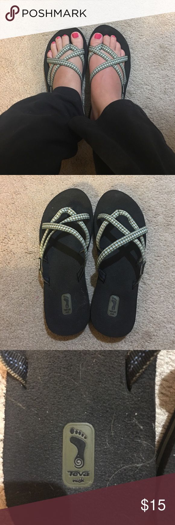 Teva flip flops Blue Teva flip flops. Hardly worn. Very comfortable. Teva Shoes Sandals