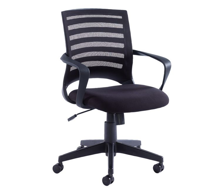Vega Mesh Operator Chair With Black Mesh Back And Black Fabric Seat    London Office Interiors