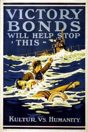 War Propaganda Art poster Metal Sign Wall Art 8in x 12in