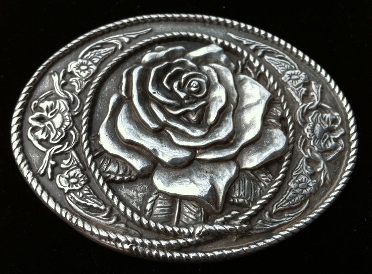 Cowgirl Cowboy Western Rose Rodeo Rider Belt Belts Buckle Buckles