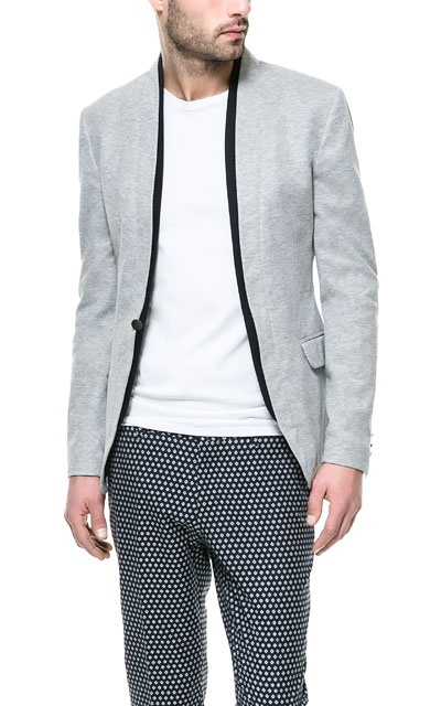 DOUBLE COLLAR BLAZER - Blazers - Man - ZARA India Ref. 1608/402,  5,390 INR