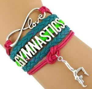 Gymnastics Bracelet - Neon Green/Teal
