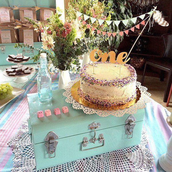 Una fiesta muy chic y bohemia para una bebé hermosa y original en su primer cumpleaños!