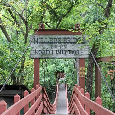Did you know? The swinging bridge, near the center of Silver Dollar City, provides a rare opportunity to walk across one of the last surviving swinging bridges in the USA. Have you ever walked across this piece of history?
