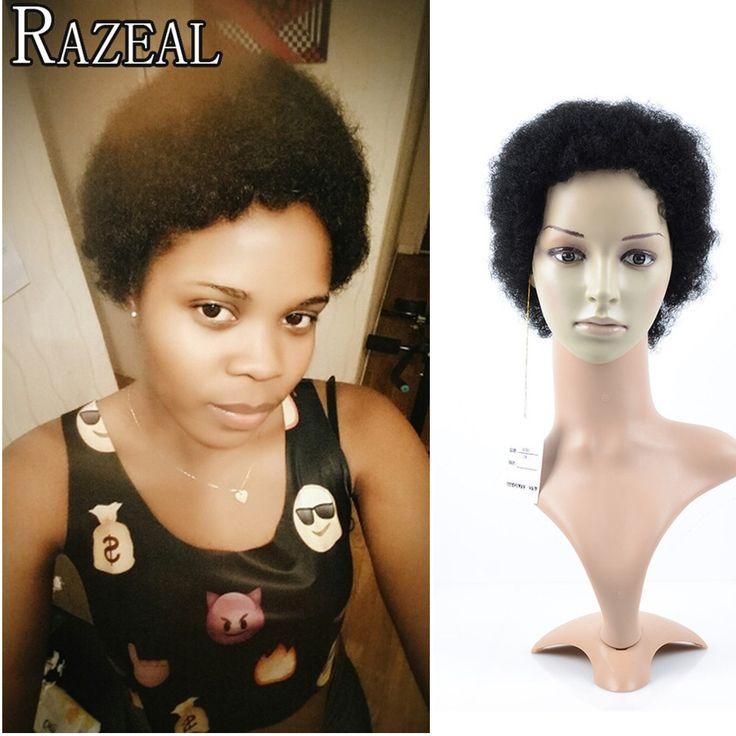 Korte Pruiken Voor Zwarte Vrouwen Afro Krullen Pruiken Afro-amerikaanse Perruque Synthetische Vrouwen Pruiken Cosplay Gratis Verzending