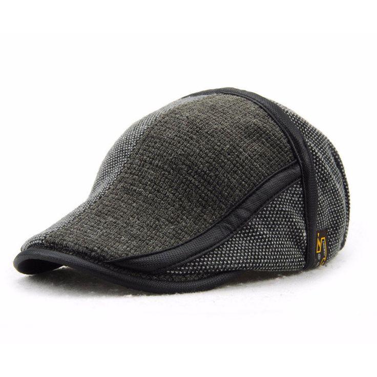 Unisex Knitted Beret Hat Knitting Buckle Adjustable Paper Boy Newsboy Cabbie Gentleman Cap at Banggood