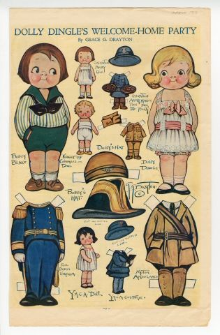 75.2969: Dolly Dingle's Welcome-Home Party | paper doll | Paper Dolls | Dolls | National Museum of Play Online Collections | The Strong