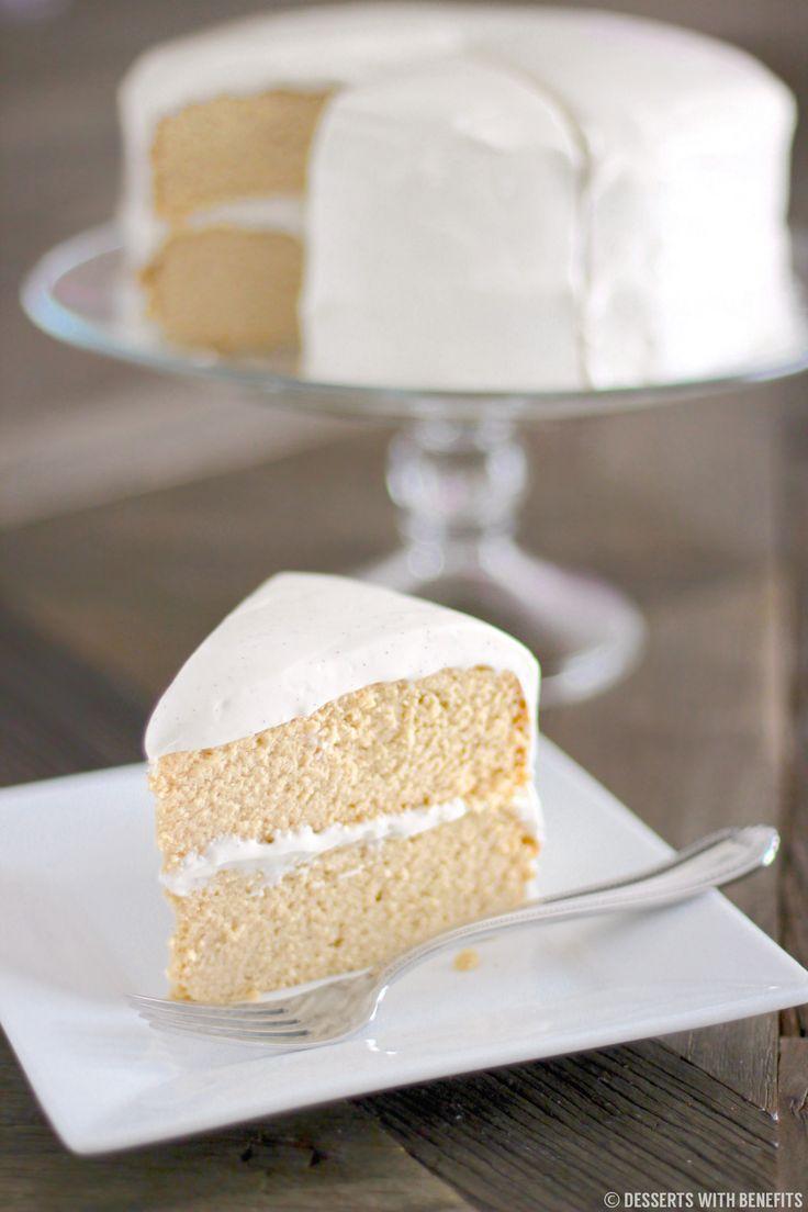 Healthy Gluten Free Vanilla Cake With Vanilla Bean Cream Cheese Frosting