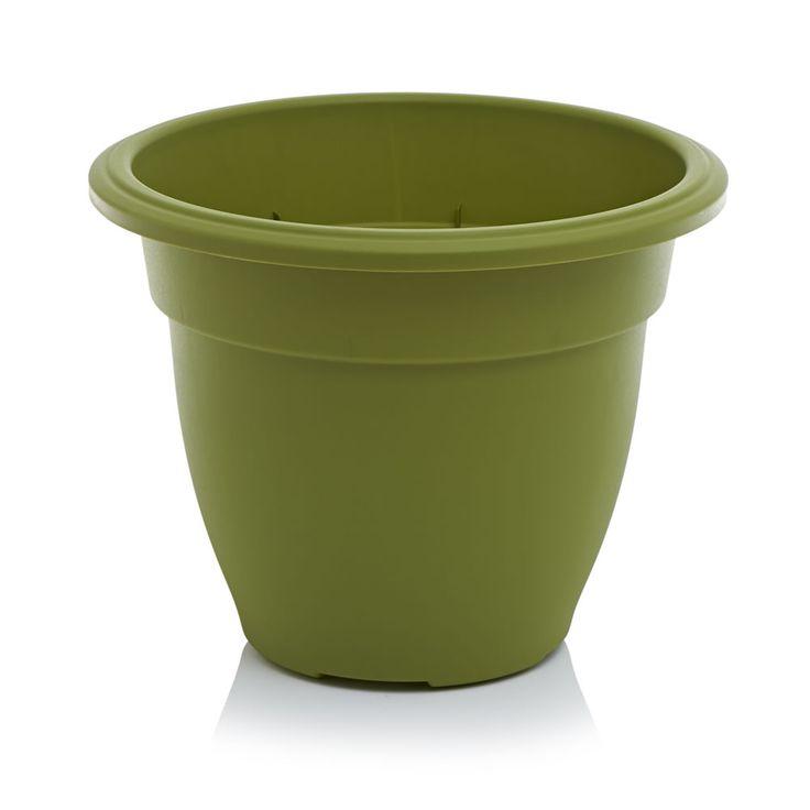 Wilko Planter Round Bell Olive 45cm