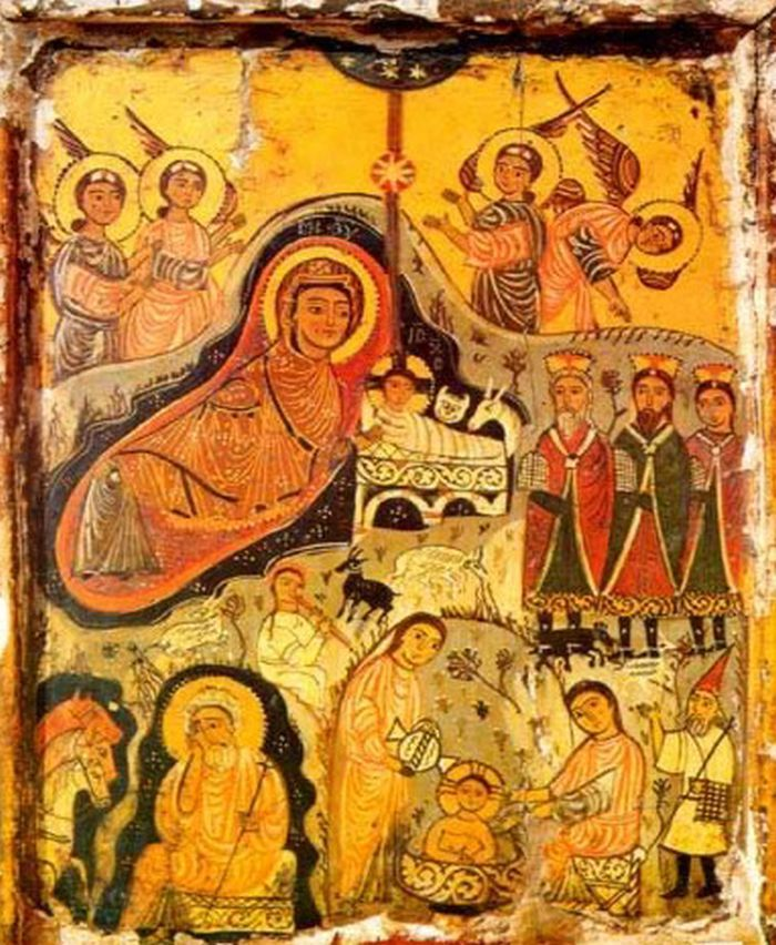 The Nativity icon, St Catherine's Monastery, 7th century AD..jpg (700×852)