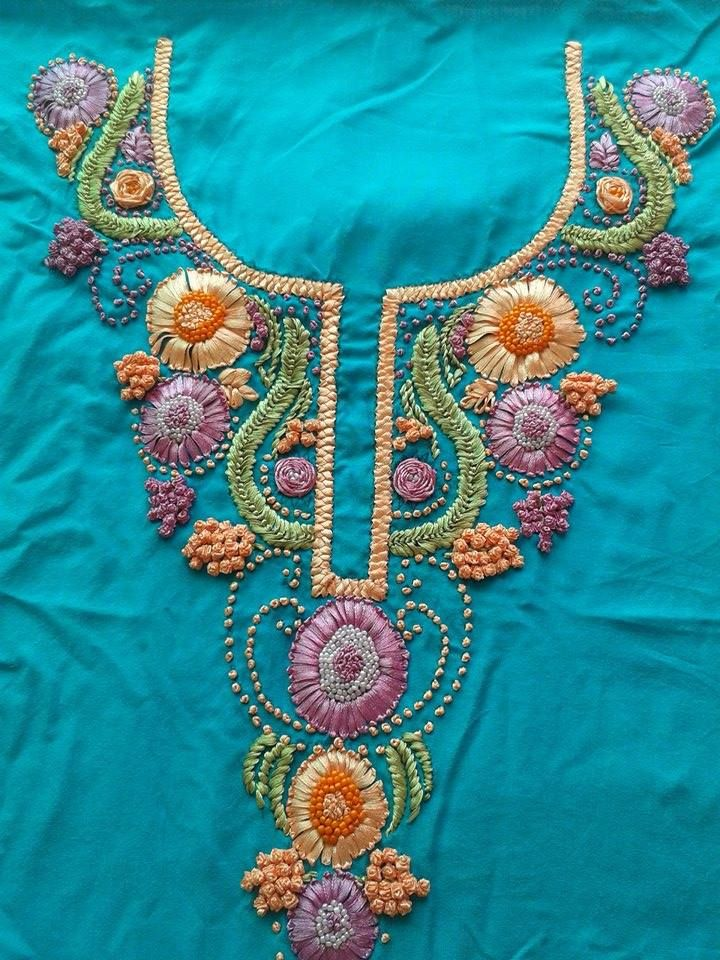 416 Best Images About Art And Ribbon Work On Pinterest | Embroidery Stitches And Ribbon ...