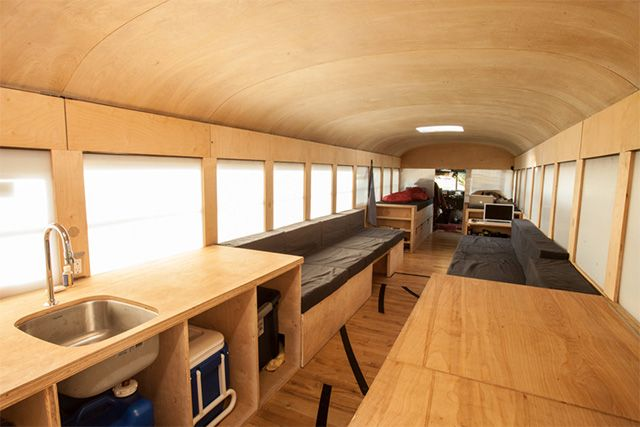 Hank Butitta Bus Interior Kitchen