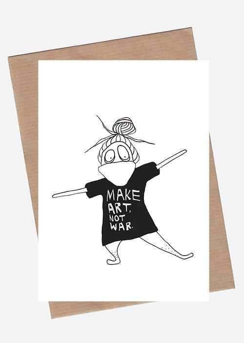 Make Art Not War via SpilledAase.com. Click on the image to see more!