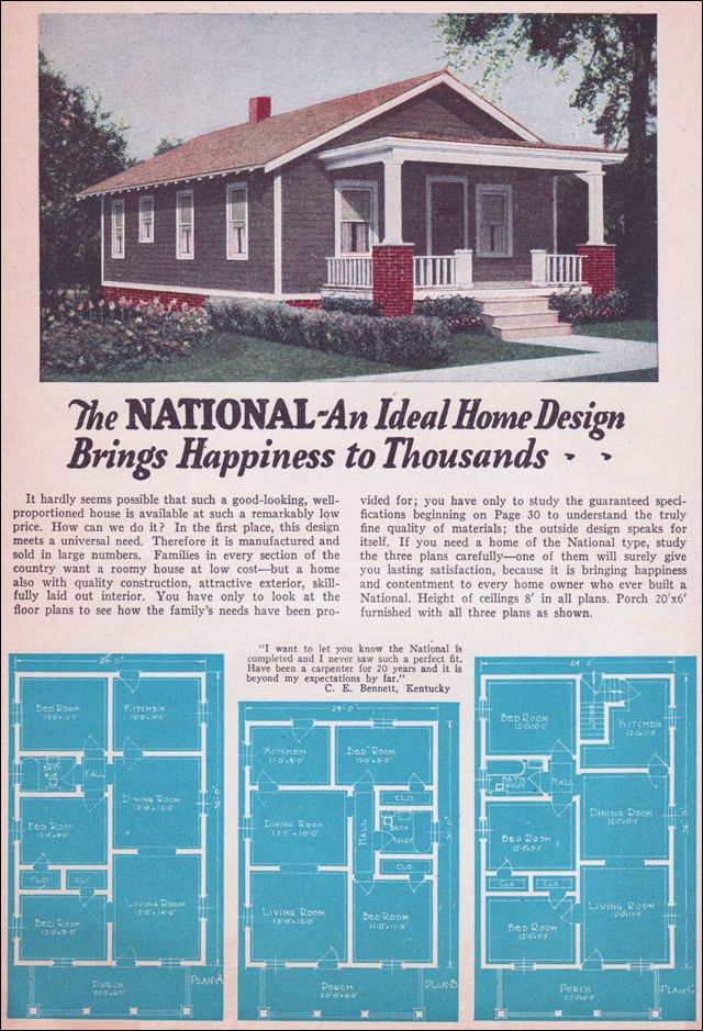 1935 Bungalow Style - Liberty Homes by Lewis Mfg The first  one is almost the same floor plan as we have.