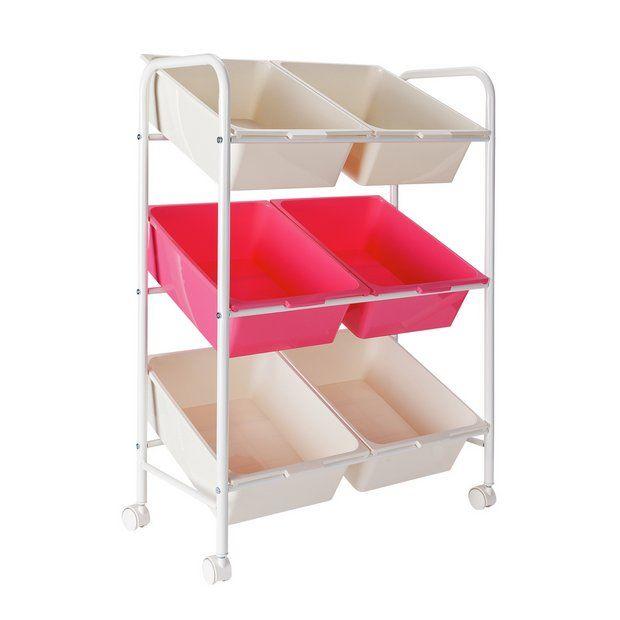 Buy Argos Home 6 Box Storage Unit Pink White Storage Units And Drawers Box Storage Unit Storage Boxes Storage