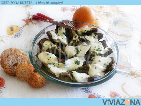 Dieta Zona Carciofi Mozzarella #cosedidonne