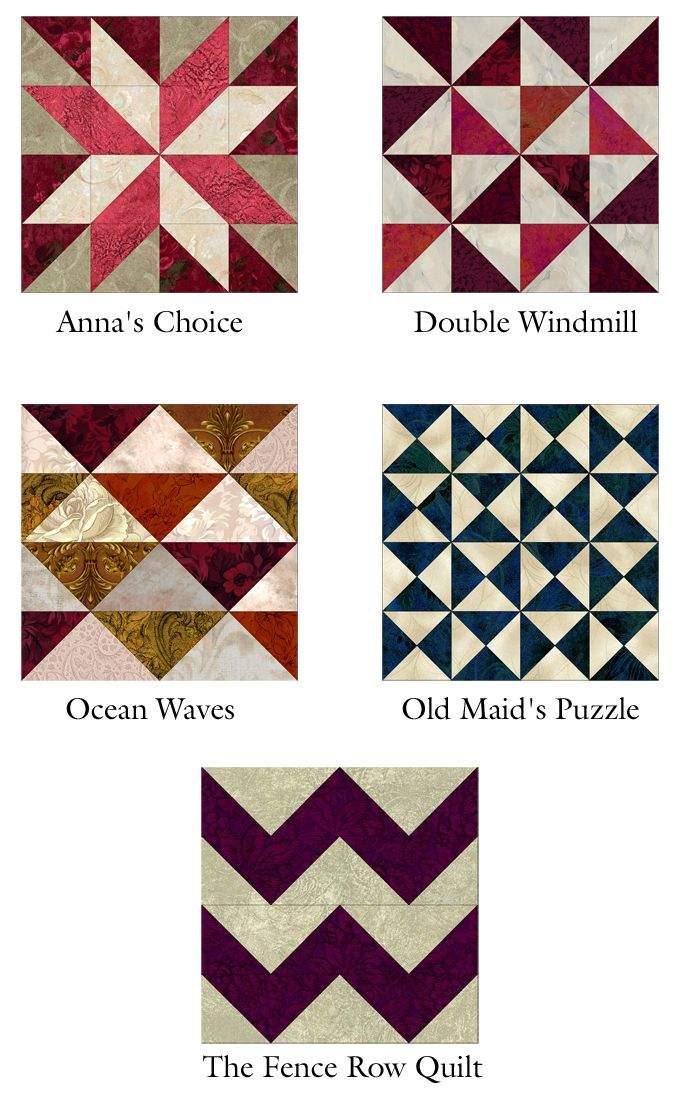 Infinite variations made with half square triangles.