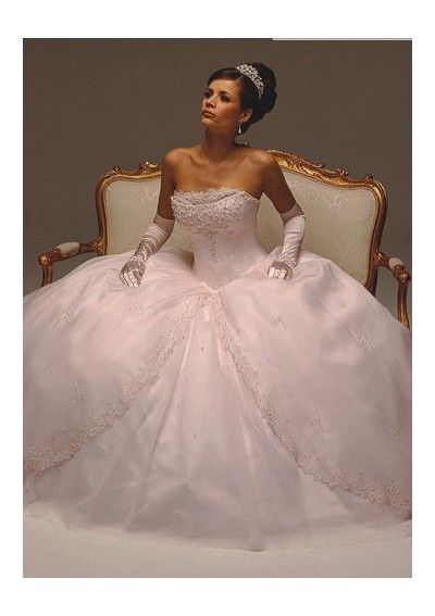 Organza Strapless Empire Bodice with Ball Gown Hot Sell Wedding Dress WD-0033