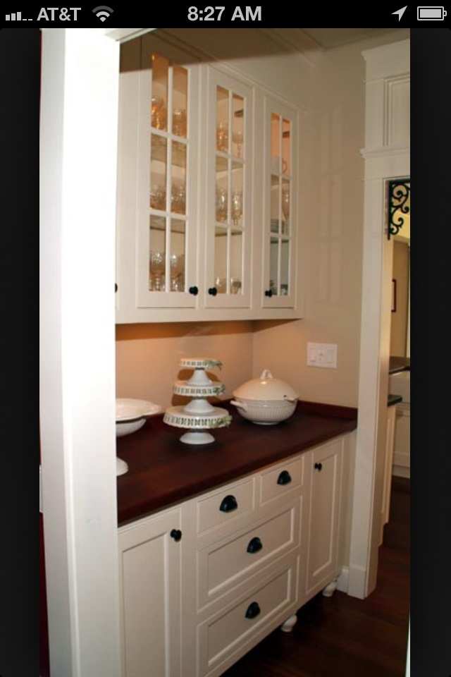 Butler 39 s pantry my dream house plans pinterest for Home plans with butlers pantry