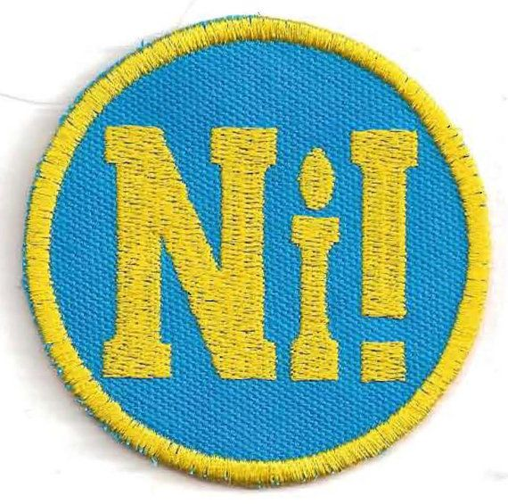 Monty Python Knights Who Say Ni Patch by StoriedThreads on Etsy, $7.00