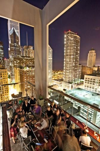 Chicago rooftop restaurant design inspiration