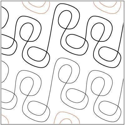 """ZYDECO © 2014 Sarah Ann MyersA single row is 7.5"""" wide"""