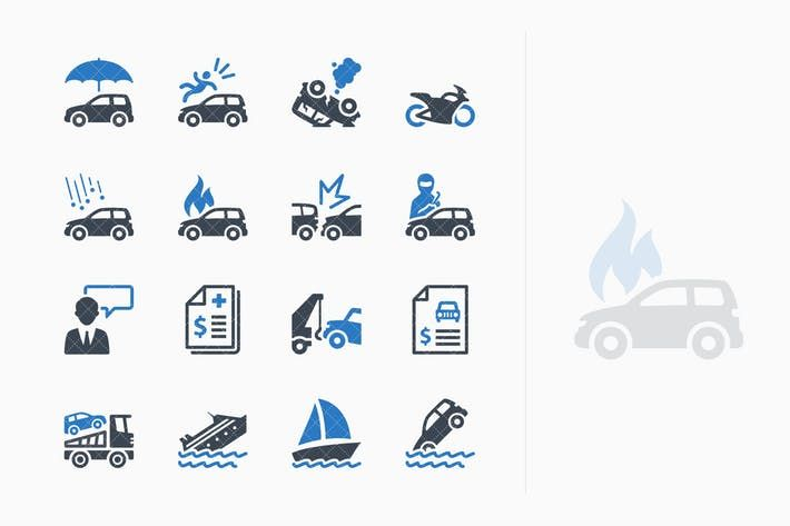 Auto Insurance Icons Blue Series By Introwiz1 On Envato Elements Car Insurance Instant Payday Loans Payday Loans