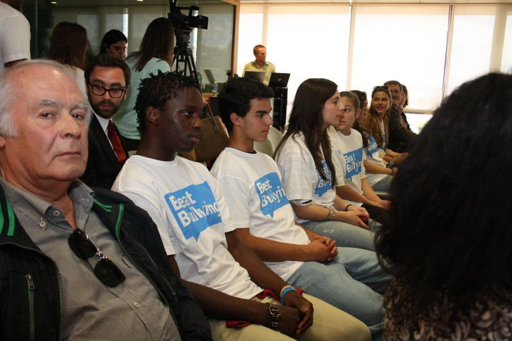Young people in the audience at our launch in Portugal.
