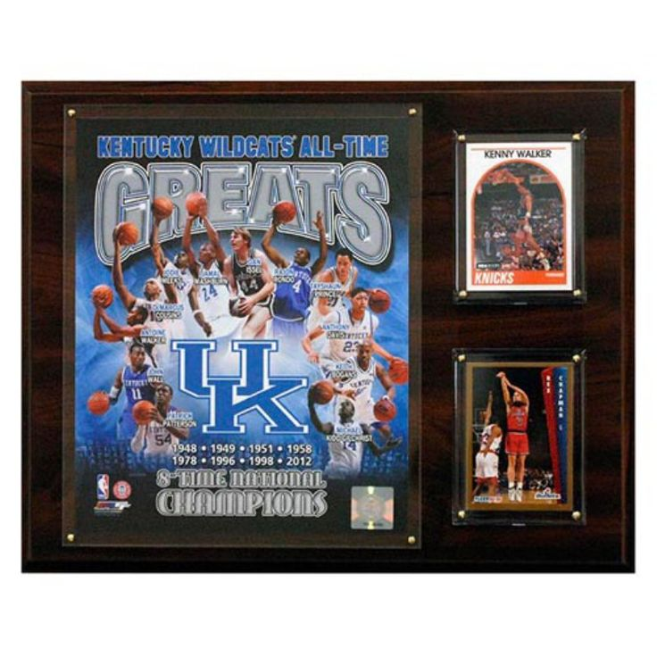 C and I Collectables NCAAB 15W x 12H in. Kentucky Wildcats All - Time Greats Photo Plaque - 1215UKTYGR