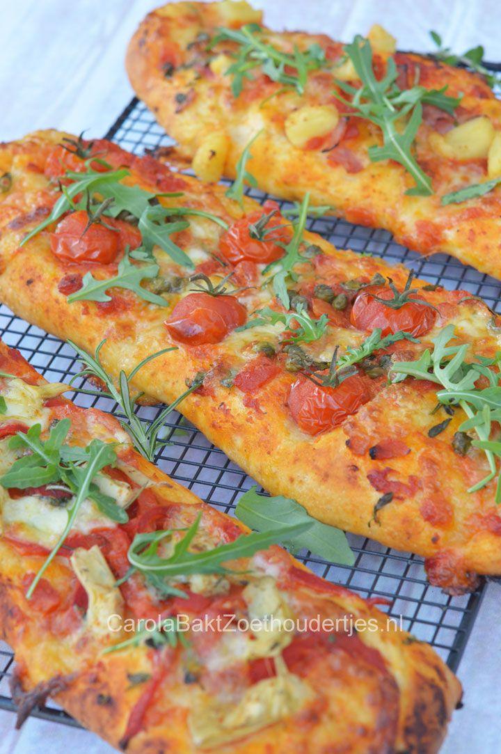Pizzabrood of pizza stokbrood maken? Dat kun je zelf veel beter dan de bakker of de supermarkt. Probeer het maar eens. Lekker!!