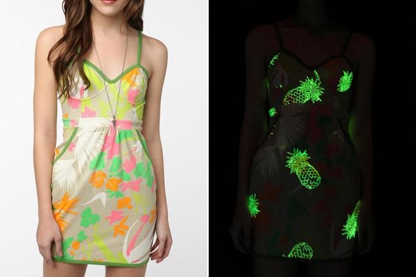 glow in the dark pineapple dress