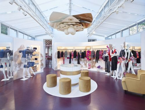 chanel's new summer boutique via vogueliving /