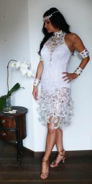 White lace latinDesign Inspiration, Latin Dresses, Dresses Design, White Lace, Lace Latin
