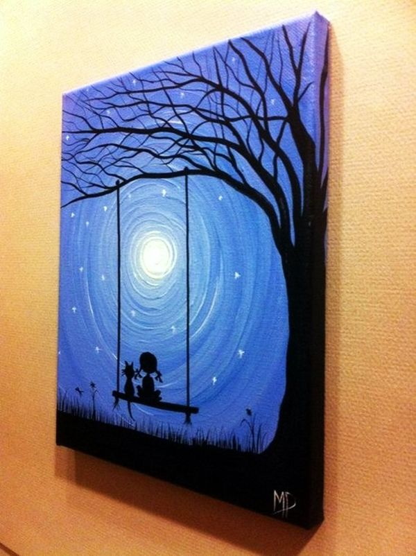 30 best canvas painting ideas for beginners canvases for Cute abstract art