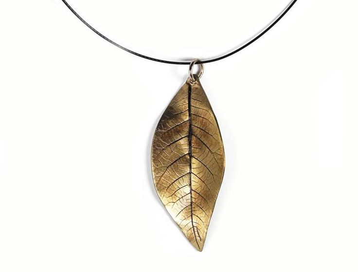 Large Leaf Necklet | Johnson casts each individual leaf in either bronze or silver creating one-of-a-kind pieces.