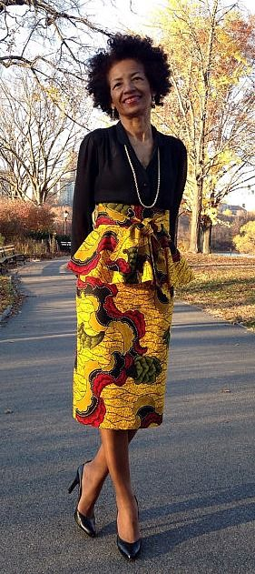 Pictures of dresses made from african fabric