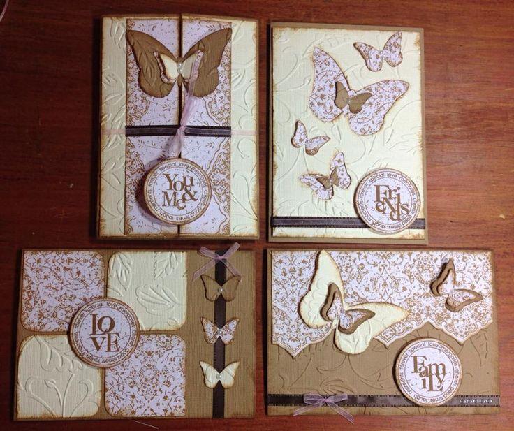 Flutterby vintage flourish cards kaszazz