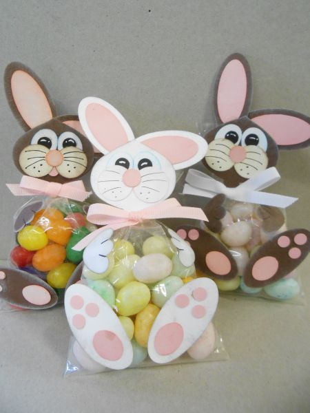Jelly Bean Bunny Bag Trio - Linda Creech, First posted this cute trio August of 2011.This is an oldie but a goodie and sure to be a hit with all my new customers.