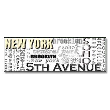 #CUADRO #NEWYORK LETRAS  #Lámina fotográfica de medida 30x90, impresa sobre panel de aluminio de 5mm que genera un efecto flotante sobre la pared.  Cuadro original, decorativo y muy duradero.  #Decorar tu hogar u oficina nunca ha sido tan fácil como ahora con nuestra tienda on-line.  57,20 €