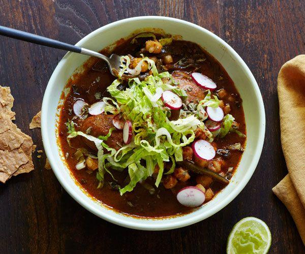 Red Pozole with Chicken (Pozole Rojo Con Pollo) | Recipe ...