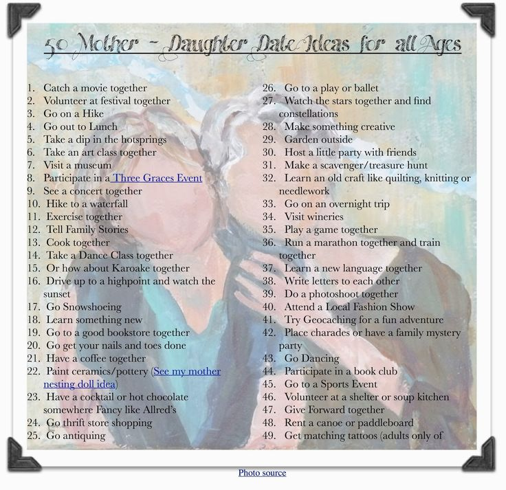 A Marmie Life: 50 Mother Daughter Date Ideas for all Ages