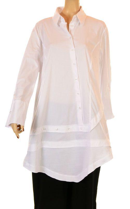 Kokomamarina No Ordinary White Asymmetric Shirt - Fab New Season Winter 2012/13-Kokomamarina, lagenlook,