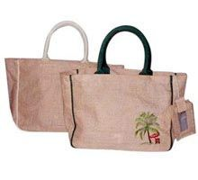 Buy Jute Shopping Bags from Omkar Collections Bhadohi India