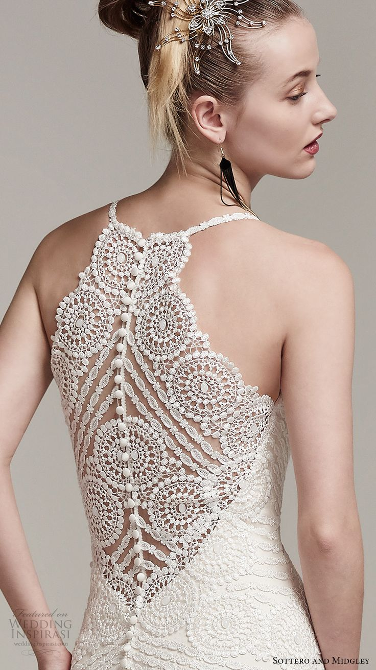 sottero midgley fall 2016 bridal sleeveless spagetti strap scallop sweetheart…