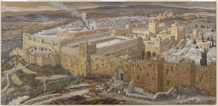 James Tissot, Reconstruction of Jerusalem and the Temple of Herod, painted between 1886 and 1894.