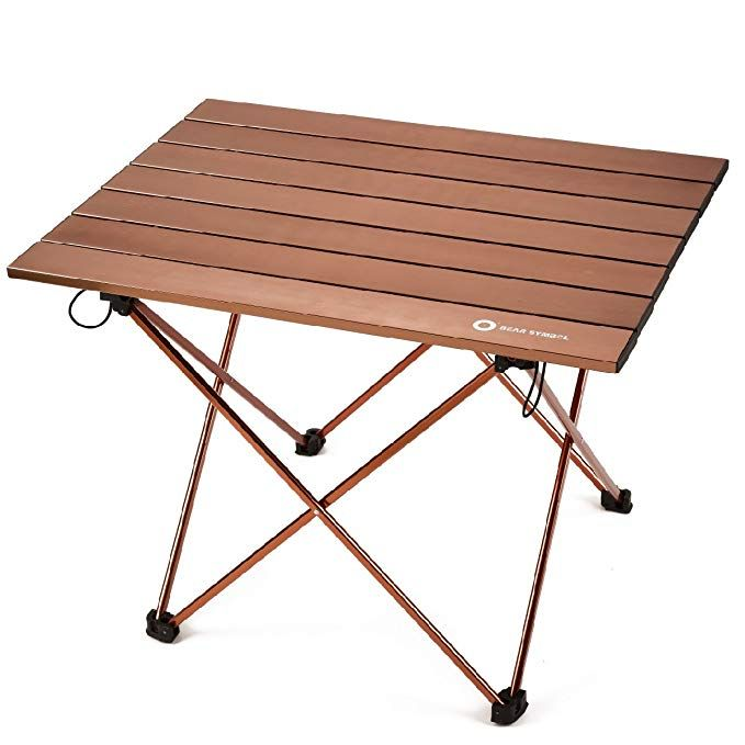 T-Buy Portable Camping Table Portable Folding Picnic Table,Lightweight Folding Table with Aluminum Table Top Suitable for Picnic,Cooking,Hiking,Fishing