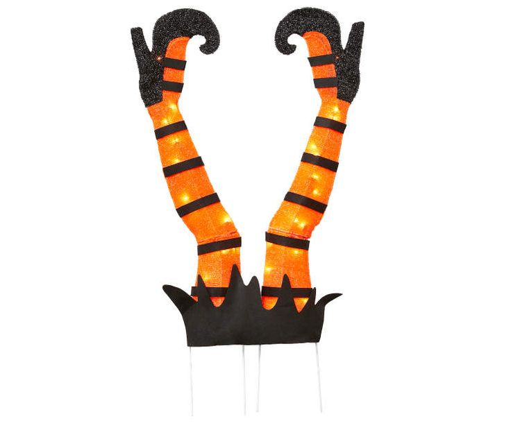 light up tinsel witch feet yard stake at big lots halloween decorationssalems - Big Lots Halloween Decorations
